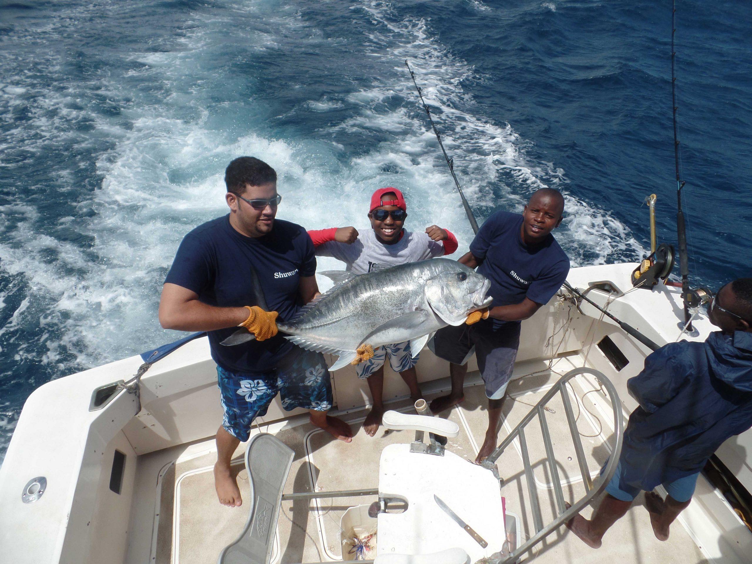 Sport fishing in Diani