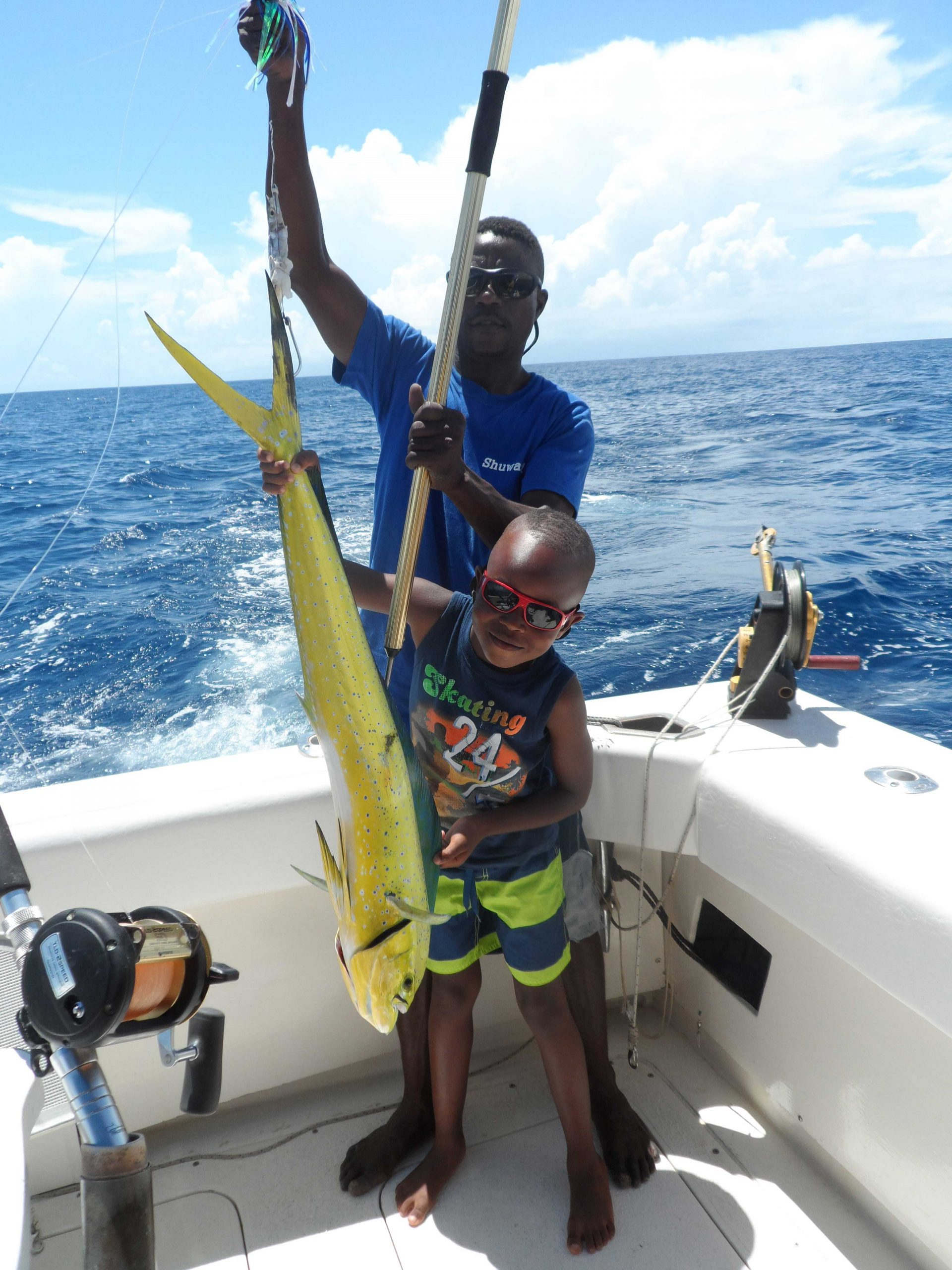 Dorado fishing catch Diani