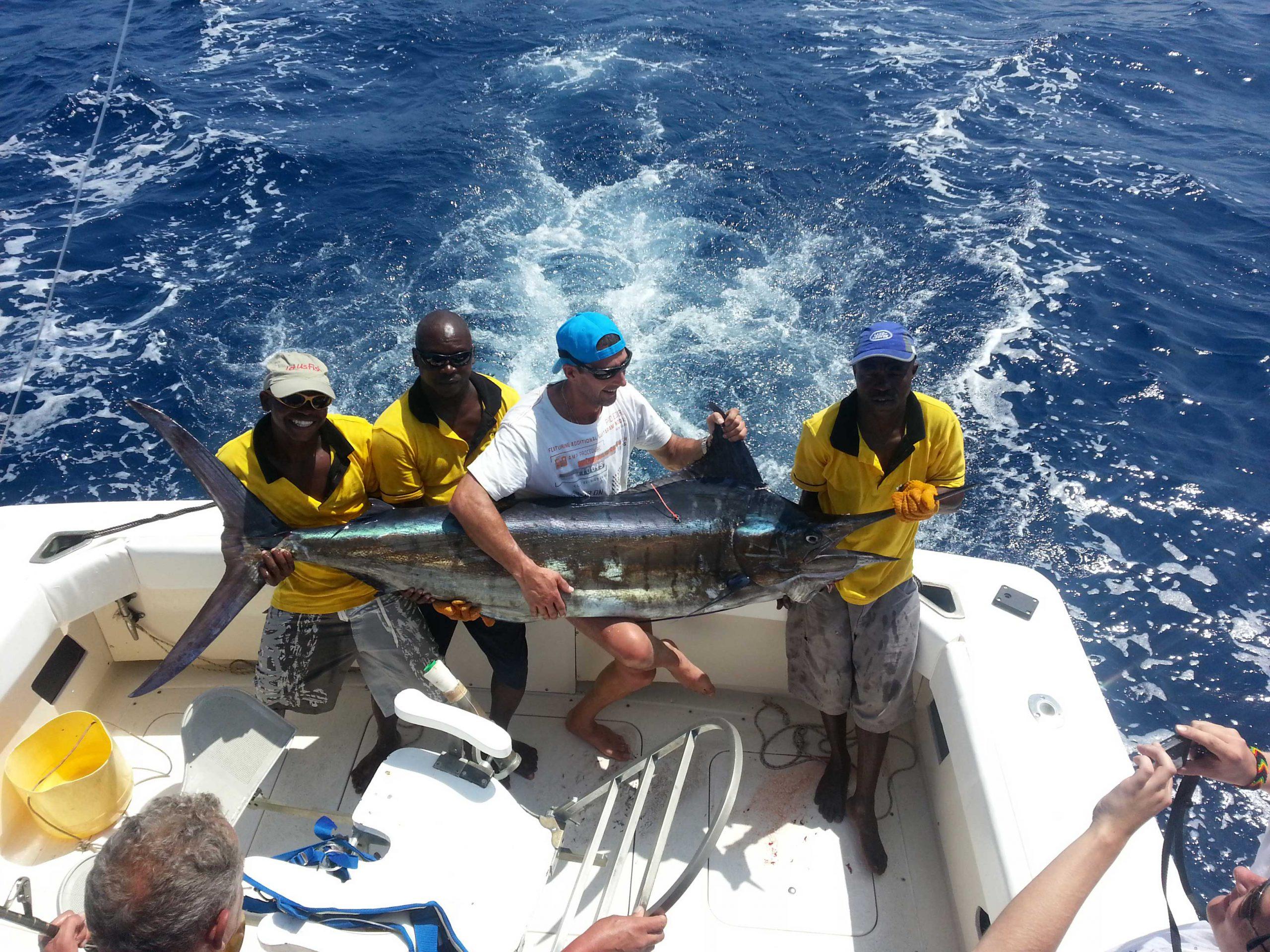 Big game fishing cacth in Kenya- Marlin
