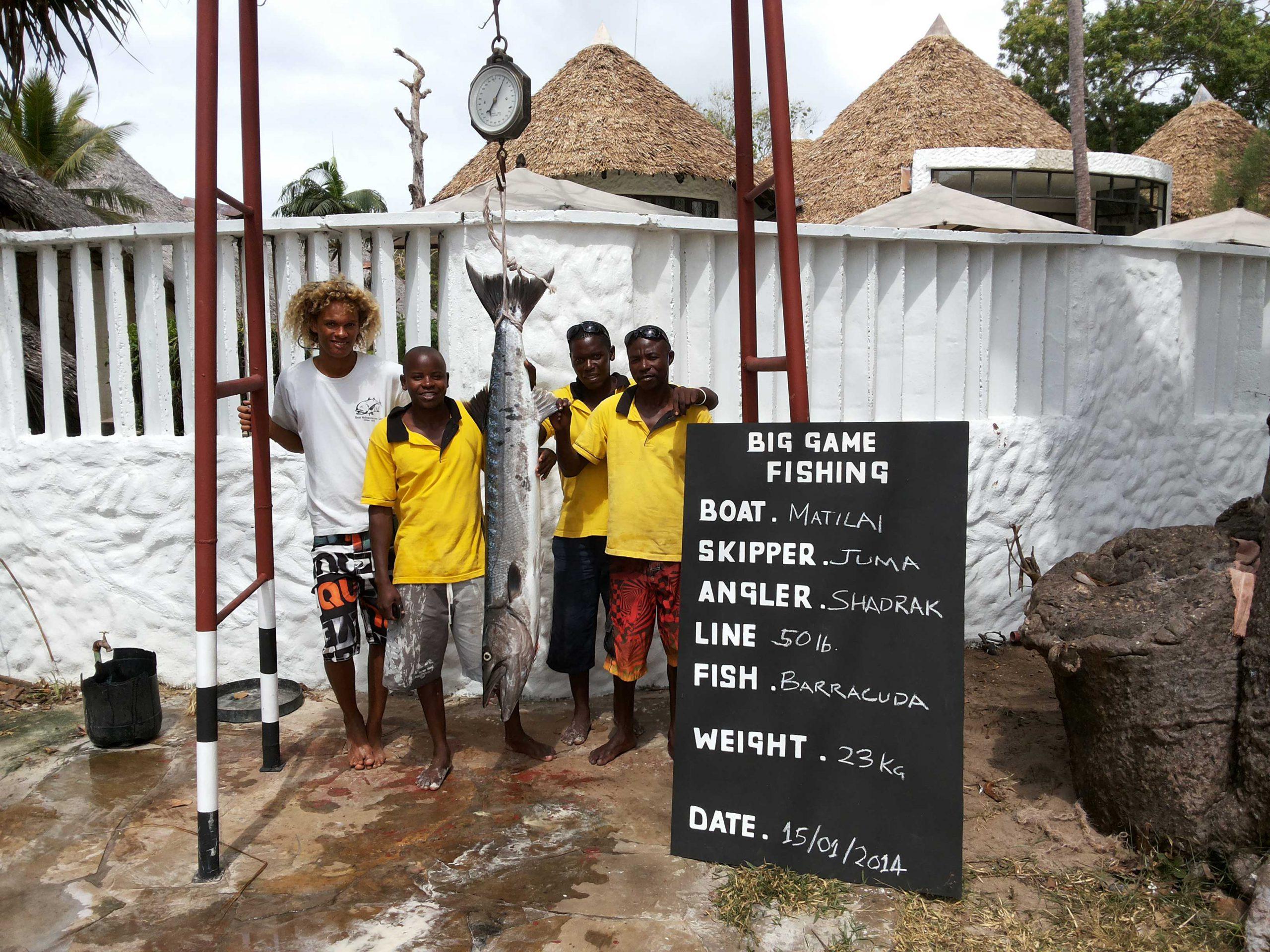 Catch a big game fish in Diani